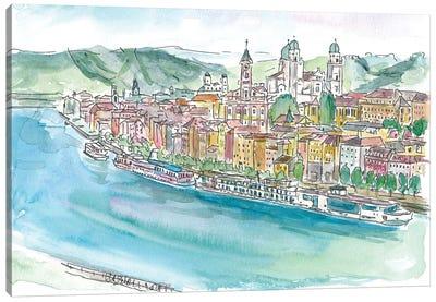 Passau Bavaria Pearl On Danube Canvas Art Print