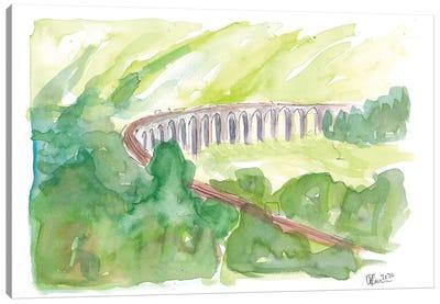 Glenfinnan Viaduct West Highland Line In All Green Canvas Art Print