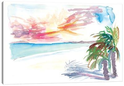 White Sandy Beaches In Martinique West Indies Canvas Art Print
