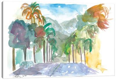 Santa Barbara California Street Scene Canvas Art Print