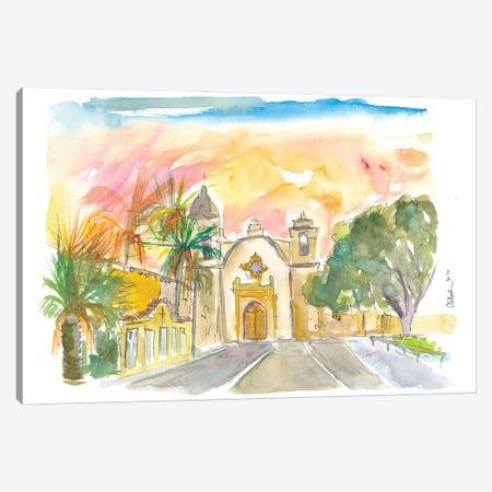 Mission San Carlos Borromeo In Carmel By The Sea Canvas Print #MMB391} by Markus & Martina Bleichner Art Print