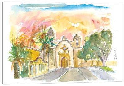 Mission San Carlos Borromeo In Carmel By The Sea Canvas Art Print