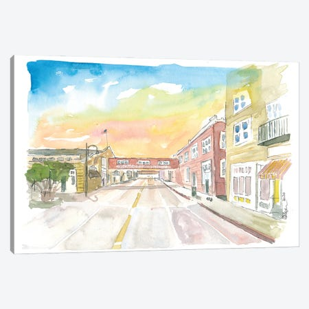 Sunset On Cannery Row Monterey California Canvas Print #MMB392} by Markus & Martina Bleichner Canvas Print