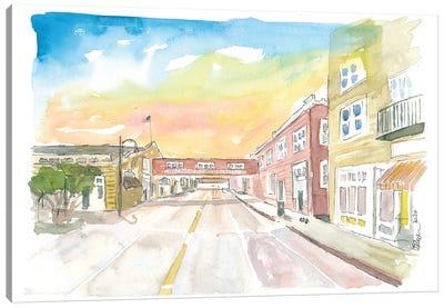 Sunset On Cannery Row Monterey California Canvas Art Print