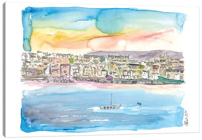 Lerwick Shetland Waterfront And Harbour Canvas Art Print