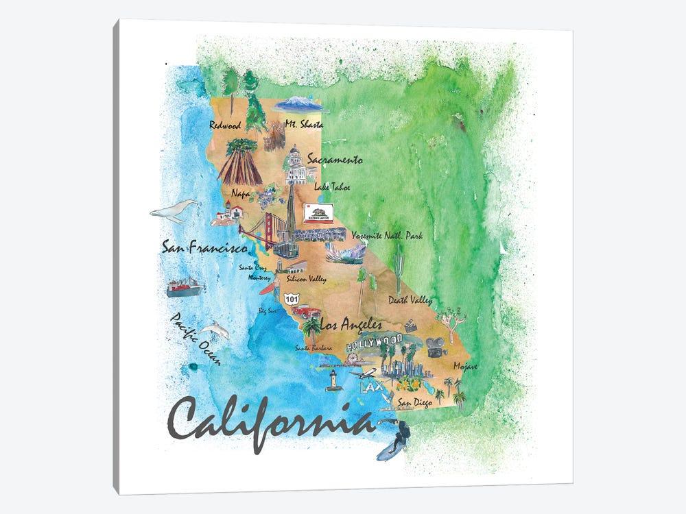 USA, California Travel Poster by Markus & Martina Bleichner 1-piece Art Print
