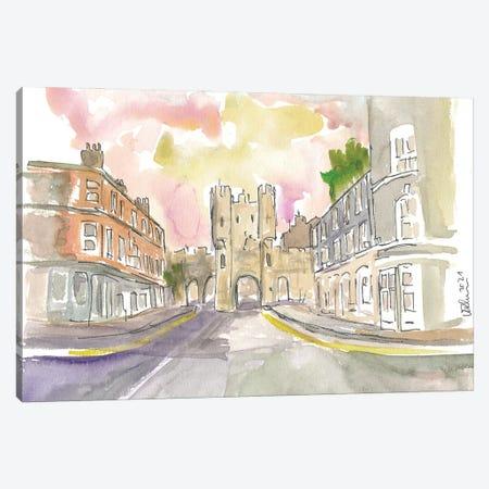 York Yorkshire Old Town Micklegate Street Scene Canvas Print #MMB413} by Markus & Martina Bleichner Canvas Art