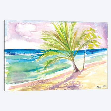 Sandy Beach In Barbados With Caribbean Vibes Canvas Print #MMB421} by Markus & Martina Bleichner Canvas Art Print