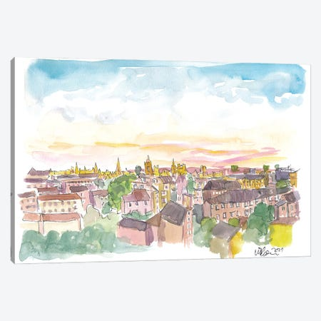 Rooftop View Of Oxford England Canvas Print #MMB424} by Markus & Martina Bleichner Canvas Wall Art