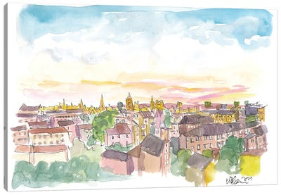 Rooftop View Of Oxford England Canvas Art Print