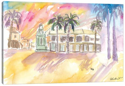 Basseterre St Kitts The Circus Street Scene Afternoon Canvas Art Print