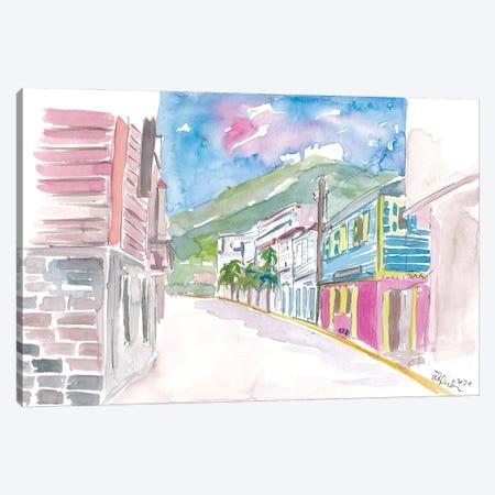 Road Town Tortola British Virgin Island Street Scene Canvas Print #MMB449} by Markus & Martina Bleichner Art Print