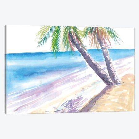 Shadow In Caribbean Sun On White Beach Canvas Print #MMB456} by Markus & Martina Bleichner Canvas Art Print