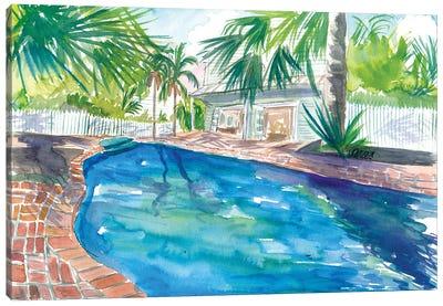 Magic Blue Pool In Remote Key West Florida Canvas Art Print