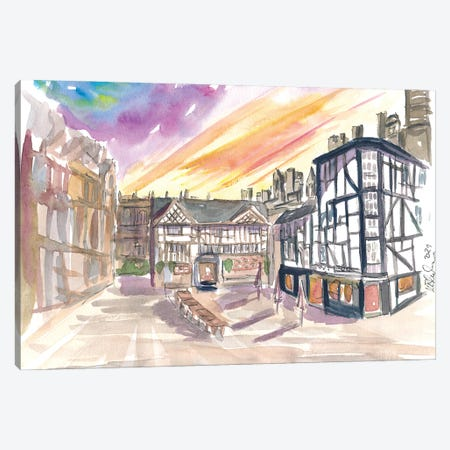 The Shambles Square In Manchester England Canvas Print #MMB469} by Markus & Martina Bleichner Canvas Art Print