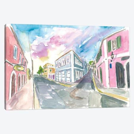 Charlotte Amalie St Thomas Us Virgin Islands Romantic Colonial Street Scene Canvas Print #MMB483} by Markus & Martina Bleichner Canvas Art Print