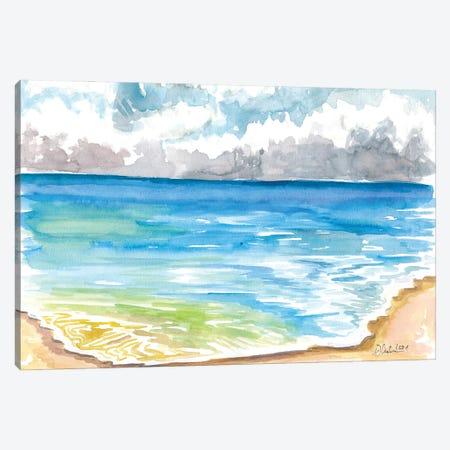 Blue Pacific Ocean In Santa Cruz California Beach Canvas Print #MMB490} by Markus & Martina Bleichner Canvas Wall Art