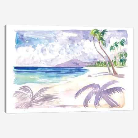 White Playa Las Teresitas Tenerife With View Of Teide Canvas Print #MMB491} by Markus & Martina Bleichner Canvas Artwork