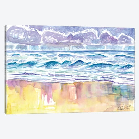 Long Island East End Quogue Hamptons Beach Scene Canvas Print #MMB492} by Markus & Martina Bleichner Canvas Artwork