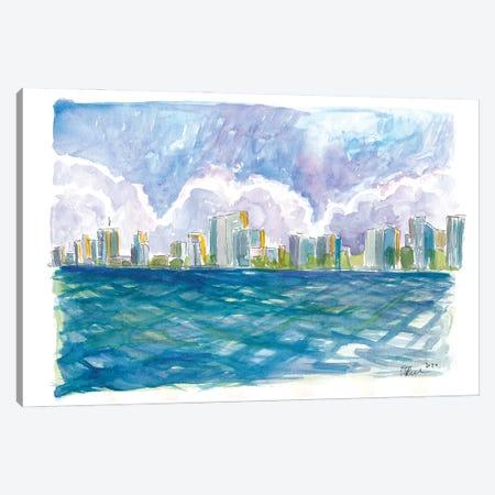 West Palm Beach Florida View From Sea Canvas Print #MMB494} by Markus & Martina Bleichner Art Print