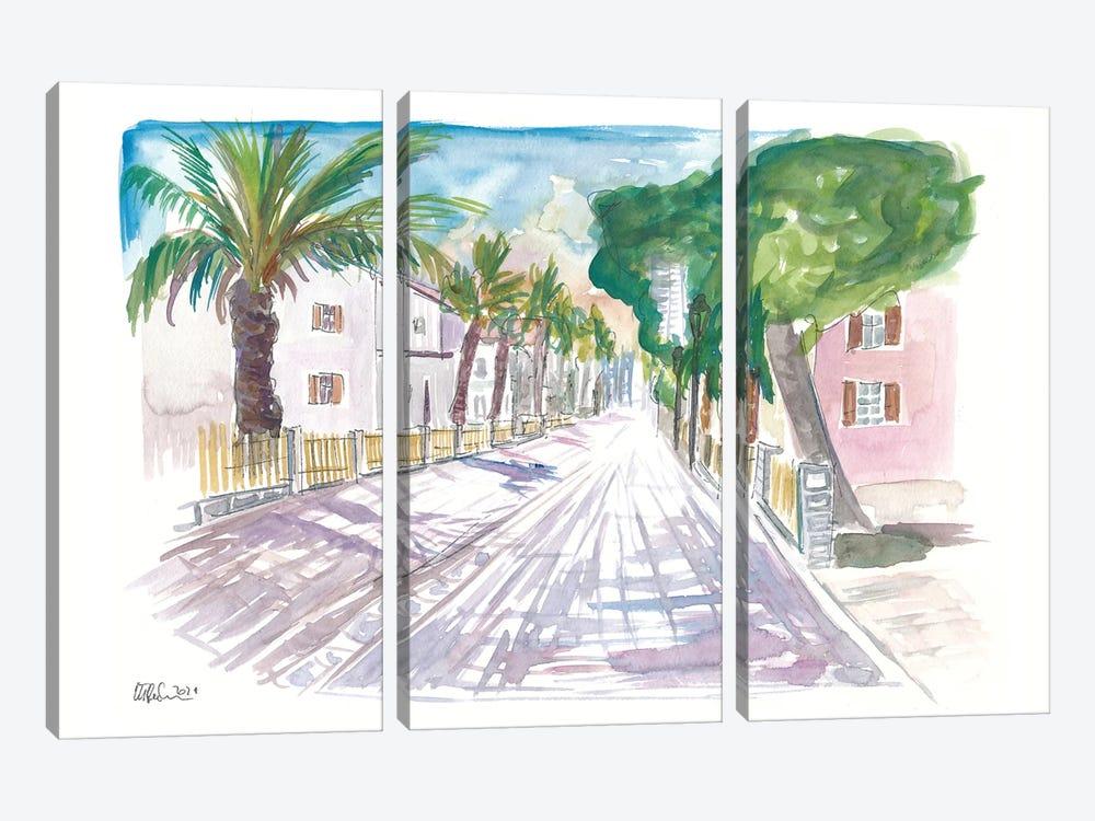 Sarona Tel Aviv Street Scene Afternoon by Markus & Martina Bleichner 3-piece Canvas Artwork