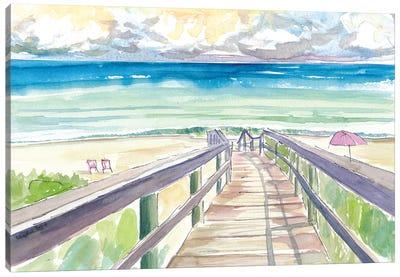 Florida Beach Walk Quiet Afternoon Canvas Art Print