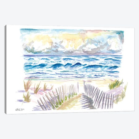 Hamptons Style In Coopers Beach And Dunes Southampton Canvas Print #MMB510} by Markus & Martina Bleichner Art Print