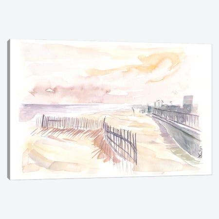 Rockaway Beach In Queens New York Canvas Print #MMB511} by Markus & Martina Bleichner Canvas Print