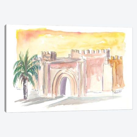 Taroudannt Old Town Gate Morocco Canvas Print #MMB512} by Markus & Martina Bleichner Art Print