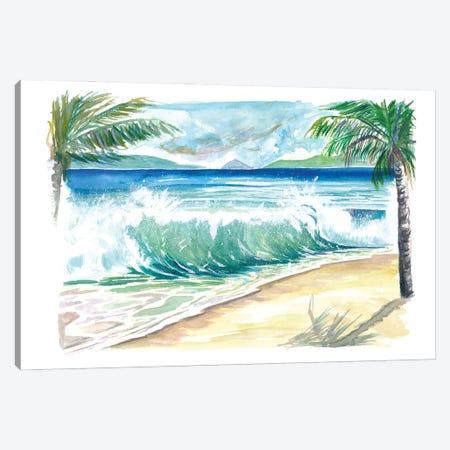 Magens Bay St Thomas Dream Beach With Waves Canvas Print #MMB513} by Markus & Martina Bleichner Canvas Print