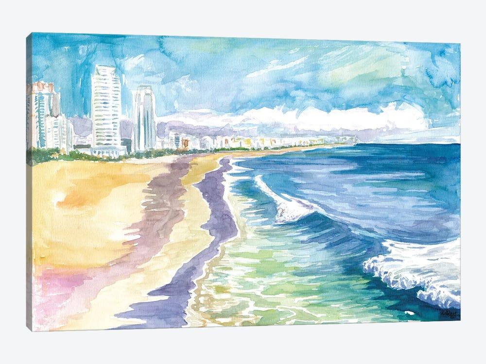 Quiet Morning In Miami Beach Fl by Markus & Martina Bleichner 1-piece Canvas Art