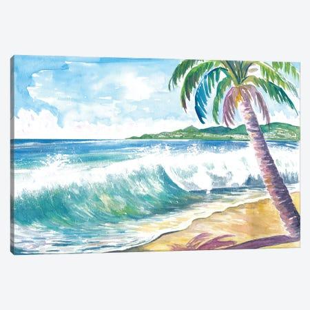 Grand Anse Beach Swell Grenada Caribbean Island Canvas Print #MMB518} by Markus & Martina Bleichner Art Print