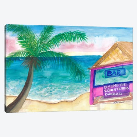 The Key Lime Bar Canvas Print #MMB522} by Markus & Martina Bleichner Canvas Wall Art