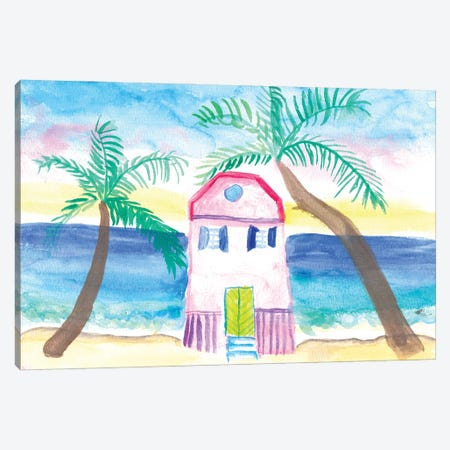 Emy's Tropical Beach House Canvas Print #MMB523} by Markus & Martina Bleichner Canvas Wall Art