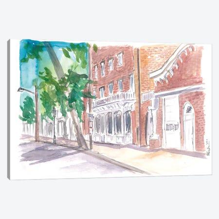 Sag Harbour Long Island Typical Main Street Scene Canvas Print #MMB537} by Markus & Martina Bleichner Canvas Wall Art
