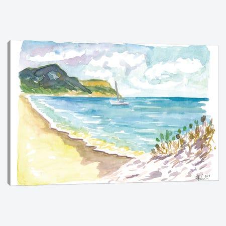 Anse De Grande Saline Saint Barthelemy Caribbean Beach Scene Canvas Print #MMB538} by Markus & Martina Bleichner Canvas Print