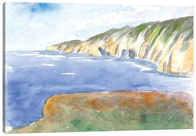Slieve League Rocks And Coastline In Donegal Ireland Canvas Art Print