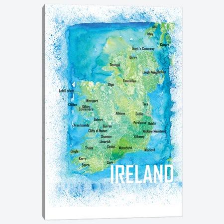 Ireland Map Canvas Print #MMB553} by Markus & Martina Bleichner Canvas Print