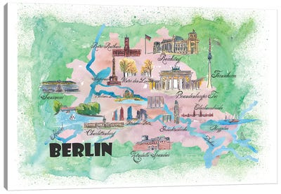 Berlin, Germany Travel Poster Canvas Art Print