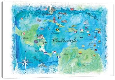 Caribbean Cruise Travel Poster Canvas Art Print