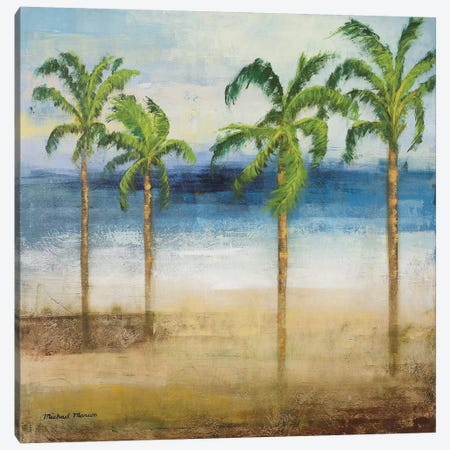 Ocean Palms I Canvas Print #MMC100} by Michael Marcon Canvas Print