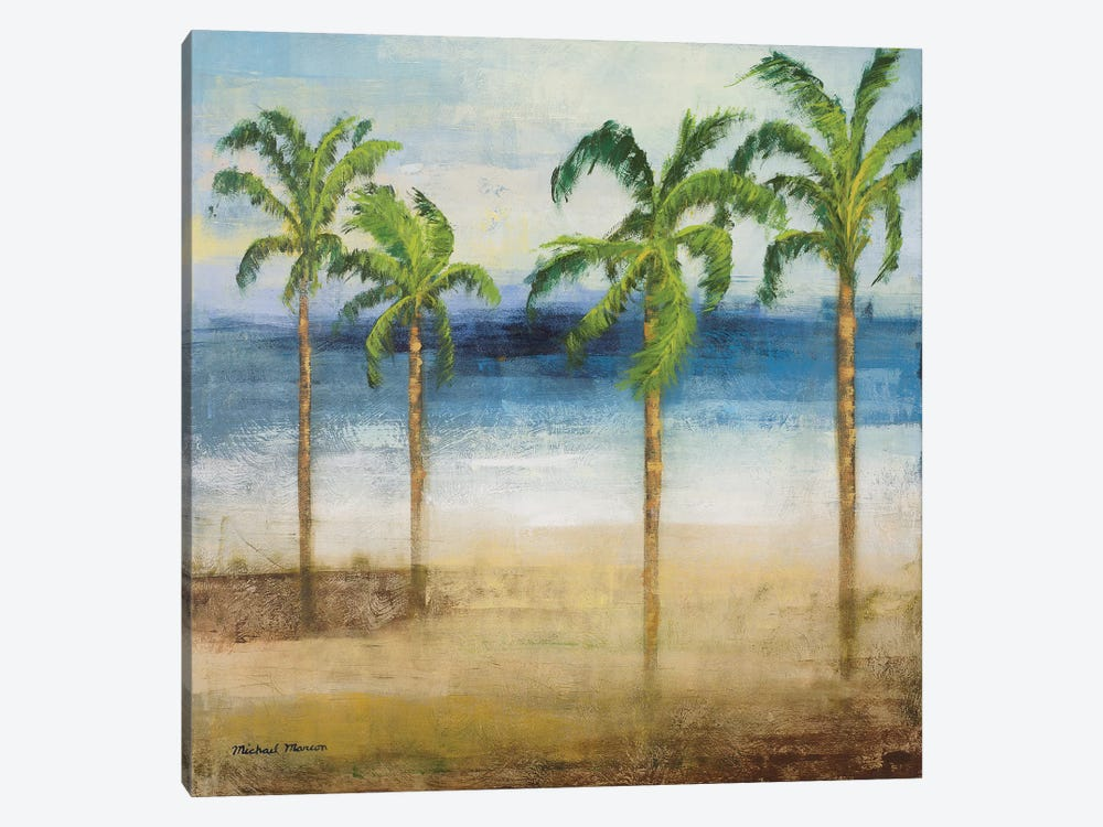 Ocean Palms I by Michael Marcon 1-piece Canvas Wall Art