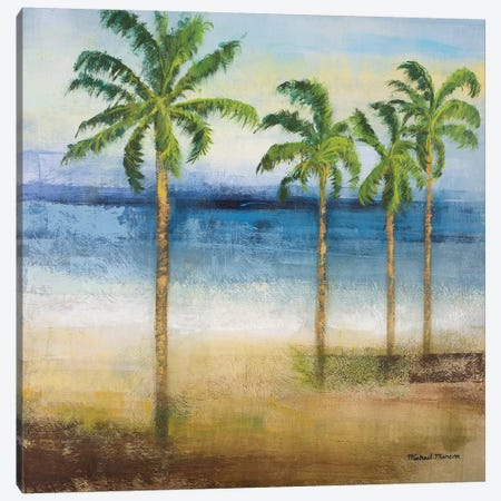 Ocean Palms II Canvas Print #MMC101} by Michael Marcon Art Print