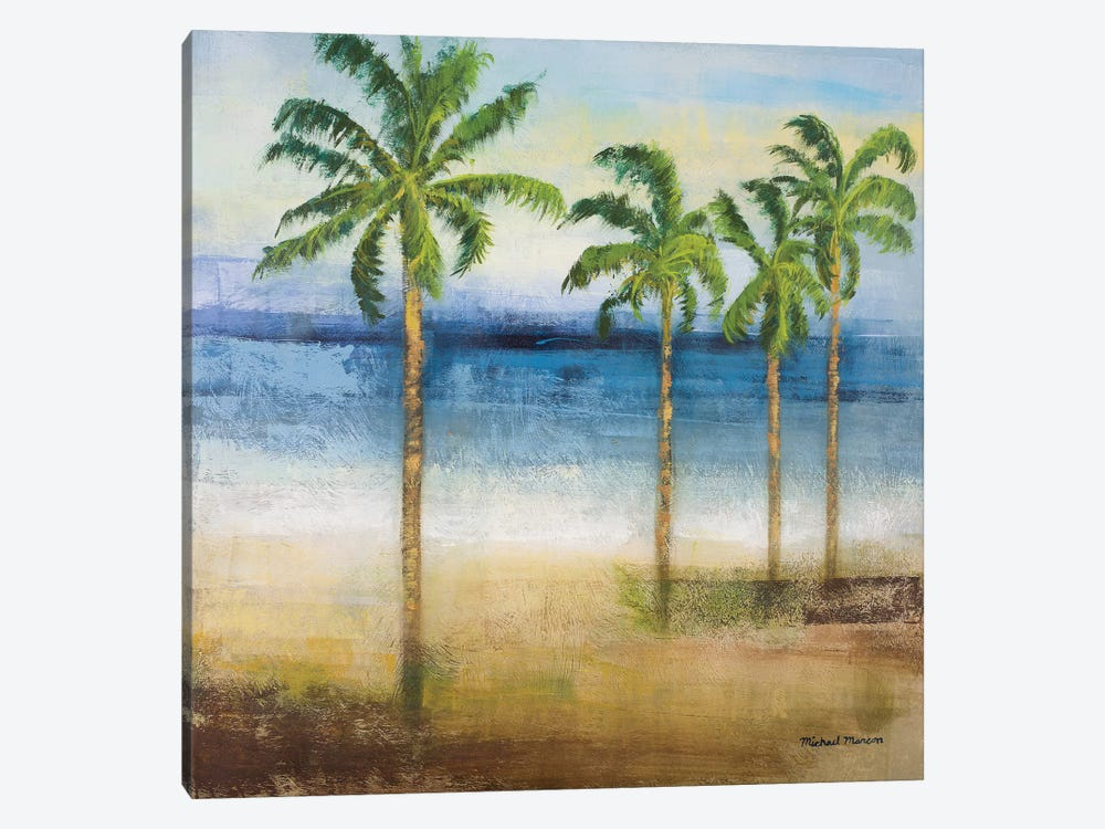 Ocean Palms II 1-piece Canvas Art Print