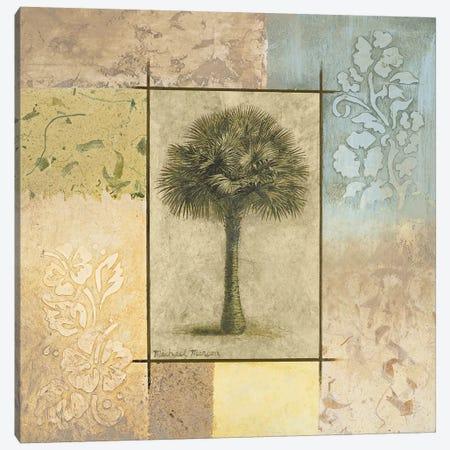 Palm Woodcut I Canvas Print #MMC105} by Michael Marcon Canvas Wall Art