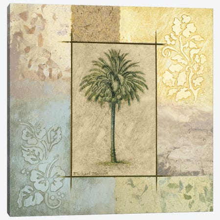 Palm Woodcut II Canvas Print #MMC106} by Michael Marcon Canvas Artwork