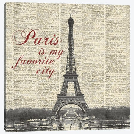 Paris Is My Favorite City Canvas Print #MMC107} by Michael Marcon Canvas Art