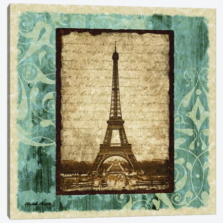 Parisian Trip I Canvas Print #MMC108} by Michael Marcon Art Print