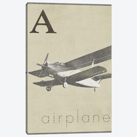 A Is For Airplane Canvas Print #MMC10} by Michael Marcon Canvas Art Print
