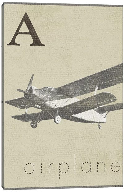 A Is For Airplane Canvas Art Print